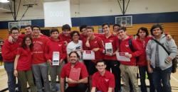 Congratulations to Mr. Santacruz and our Robotics team which qualified 2 of our 4 robotics teams for States and Nationals.
