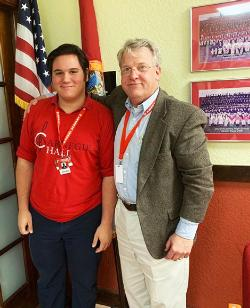 Congratulations to Christopher Alfonso for being accepted into the Florida All-State Concert Chorus! He is the first student from Doral Academy to qualify.