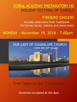 FREE Choral and Piano Concert at the Guadalupe Church