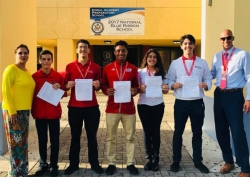 Congratulations to Juan Gutierrez, Pedro Contipelli, Kevin Arcia, Stephanie Riveron and Logan Fontirroche for being a National Merit semi-finalist.