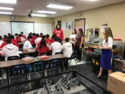 "visitors from the United States Department of Education come to our school on their ""Rethink"" Back to School tour. Here's a look at our outstanding STEM program at Doral Academy. #rethinktour"
