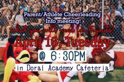 CHEERLEADING TRYOUTS INFORMATIONAL MEETING