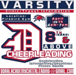 VARSITY CHEERLEADING TRYOUTS/ CLINIC