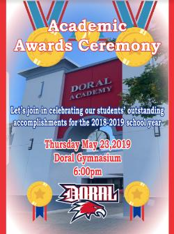 Academic Awards Ceremony this Thursday, May 23rd @ 6:00 pm.