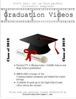 2019 GRADUATION VIDEOS FOR SALE