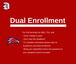 Dual Enrollment Registration for the Fall Semester